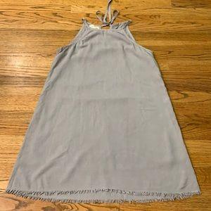 Anthropologie Cloth & Stone Grey Slip Dress sz:M